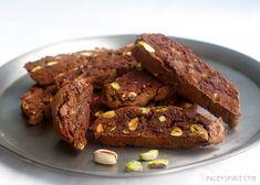 Chocolate Pistachio Biscotti (Paleo & Vegan)