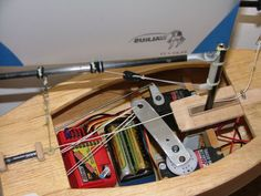rigging on a footy - RC Groups Model Sailboats, Model Airplanes, Rc Glider, White Deck, Model Boat Plans, Rc Model, Wooden Boats, Model Ships, Boat Building