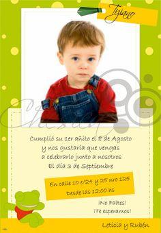 Tarjeta de Invitación - Cumpleaños