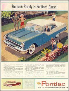 PONTIAC AUTOMOBILES SATURDAY EVENING POST 09/03/1955 INSIDE FRONT