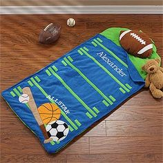 The All Star Sports Nap Mat is perfect for sleep-overs, slumber parties, and of course, nap time at day care. Personalize the nap mat with any name embroidered in coordinating white thread that won't come off in the wash. Personalised Gifts Unique, Personalised Blankets, Custom Gifts, Parent Gifts, Gifts For Kids, Toddler Nap Mat, Kids Sleeping Bags, Baby Shower Niño, Fabric Purses
