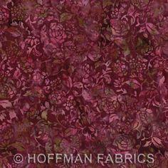 Bali Floral Silhouette BurgundyM2708 38