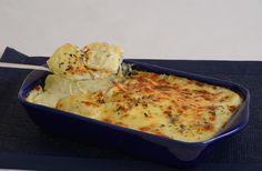 Batata de forno com creme de queijos