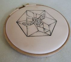 tattooed (with machine)leather. bee hexagon by PUNCTURED-ARTEFACT.deviantart.com on @deviantART