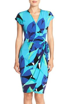 Maggy London 'MJ' Print Jersey Wrap Dress available at #Nordstrom                                                                                                                                                                                 More