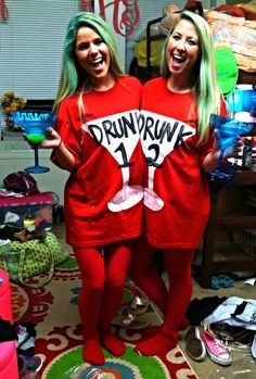 "They said, ""What it dooo!? Would you like to take shots with Drunk 1 and Drunk 2?"". I need someone to be this with me next year for Halloween!!!"