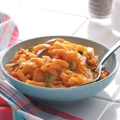 Mac and Cheese Chicken Skillet Recipe    Your family will love this wonderful and speedy Italian-style twist on classic mac and cheese.