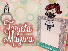 ▶ TUTORIAL Tarjeta Mágica de Colores/Magic Color Card Scrapbook - YouTube
