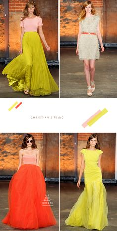 I know its not even fall, but these dresses from Christian Sirianos spring 2012 collection are beautiful.