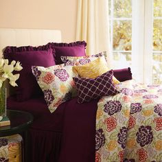 Colorful Floral Print Bedding.