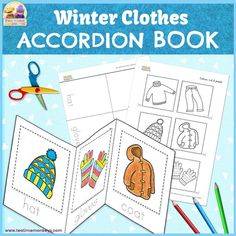 Use this easy to construct accordion book to practise winter clothes words with your little ones and encourage their reading and writing skills! Great for winter units!