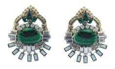 Love these vintage inspired Elizabeth Cole earrings