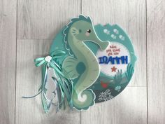Personalized acrylic / plexiglass notebook / wishbook / keepsake seahorse / summer / ocean