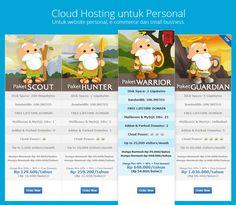 Cloud Hosting Indonesia yang pas buat blogger ya Dewaweb.