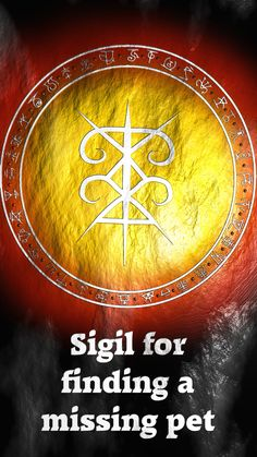 Sigil for finding a missing pet Requested by @leilanyboo Here you go my friend. Thank you for the request, I appreciate it. Sigil requests are open!