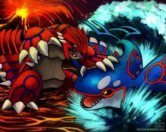 [Battle City] Imbalance by Haychel.deviantart.com on @deviantART (Groudon vs. Kyogre)