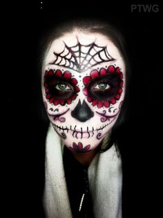 Day of the Dead (Sugar skull makeup): Good reference for products used to create different looks.