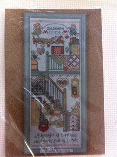 Cross Stitch Kit by Design Works Home House of Happiness Love Personalize   eBay