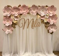 Flower Arch Backdrop in Blush colors Thank you and Congratulations Flower Arch Backdrop in Blush colors Thank you and Congratulations Unique paper flowers can be used for unique wedding decorations, . Party Decoration, Birthday Decorations, Wedding Decorations, Backdrop Wedding, Flowers Decoration, Baby Shower Parties, Baby Shower Themes, Baby Shower Decorations, Paper Flower Wall