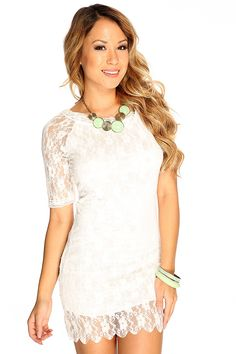 Sexy short party dress includes; floral lace overlay, adjustable spaghetti straps, short sleeves, and bodycon fitted. 100% Polyester.
