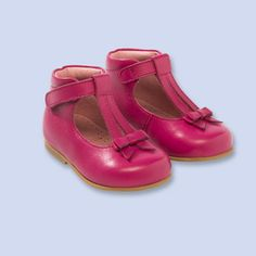 Bow-trimmed t-strap shoes BLUSH PINK Girl - Shoes Clothes - Jacadi Paris