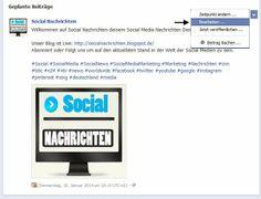 Wie Editiere ich mein Facebook Post?