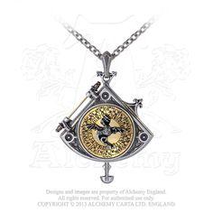 Alchemy Gothic - Astral Dragon Quadrant Locket - P670