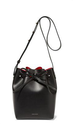 92a8c59be7d2 Mansur Gavriel Mini Leather Bucket Bag - Black - ShopStyle Shoulder