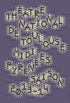 Poster by the french graphic designer Philippe Apeloig. Théatre national de Toulouse Midi Pyrénées saison 2013-2014 #apeloig #graphicdesign #poster