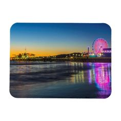 USA California Los Angeles Santa Monica Pier Magnet - tap/click to get yours right now! #Magnet #amusement #park #architecture #ca #california Santa Monica Pier, Travel Souvenirs, Los Angeles California, Shop Usa, North America, Magnets, To Go, Amusement Park, Water