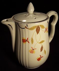 Jewel Tea Autumn Leaf 9 Cup Coffee Pot/Iced Tea Pitcher with LId: Removed