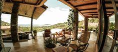 Outdoor patio at Casa De Los Suenos. Located in Hermosa Heights, Guanacaste Costa Rica.