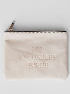 Combining my two favorite things: leather pouches and lying!