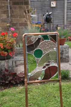 Tiffany Style Stained Glass Garden Art-Yard Art by AdaStainedGlass
