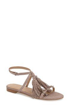 Marc Fisher LTD 'Crystal' Tassel Flat Sandal (Women)