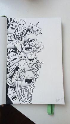 Little Doodle Doodle Art Drawing Doodle  Doodle Wall Art Drawings Notebook