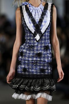 Alexis Mabille * S/S '13. Interesting gingham with overlay