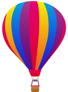 free clip art of a fun rainbow striped hot air balloon sweet clip rh pinterest com clip art hot air balloons clip art hot air balloons free