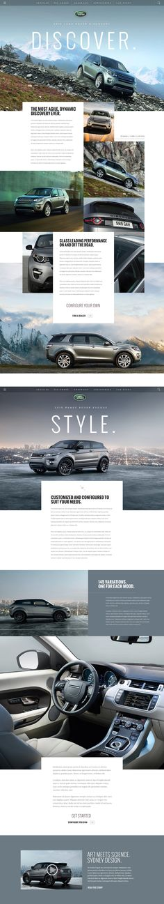 LandRover.com on Behance