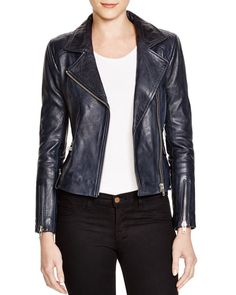 Doma Leather Motorcycle Jacket - available at Bloomingdales