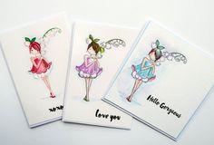 """Färgläggning med akvarell av Stamping Bellas """"Garden Girl Lily Of The Valley""""   Pysslotekets blogg"""