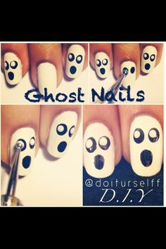ghost nail tutorial