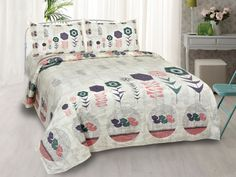 Flower Basket Peach King Size Bedsheet Bed Sheet Sizes, King Size Bed Sheets, Double Bed Sheets, Double Beds, Cover Size, Flower Basket, Comforters, Pillow Covers, Peach