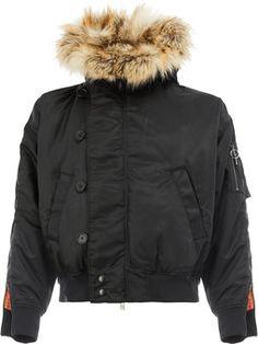 furry collar padded jacket
