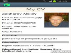 CVMaster – Resume Builder  Android App - playslack.com ,  Simple resume builder tool for the professional CV creation on your mobile device.Convenient form, contains helps on filling of fields, and sending summary for E-mail and find work with recruiting agencies.The resume templates for free doesn't contain any advertizing and the hidden links!Filling in the form you get the ready file of a professional CV on your Android, that is ready to be sent (with a COVER LETTER if it is…