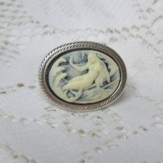 Mermaid Cameo Ring  Silver Setting  Little by SouthernBelleOOAK, $14.00