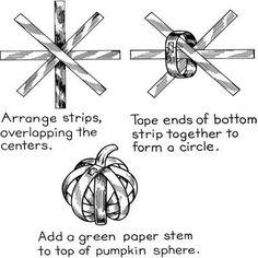 Paper Strip Pumpkins.