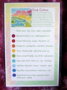This Set Of 12 Organza Ribbon Streamers Come With A Biblical Color Chart To Instruct The