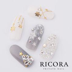 Shine crystals nails