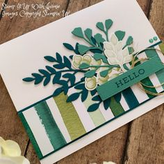 Stampin' Up! Sneak Peek Forever Greenery Suite – Two Cards – Stamp It Up with Jaimie